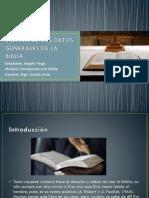 Síntesis de Los Datos Generales de La Biblia