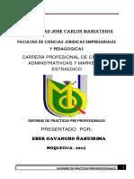 Informe de Practicas Eber Gavancho Ñahuirima 1