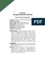 IIES Quarterly Energy Economics Review Vol 4 No 12 Sp 2007