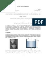 Composition Examen de Physique Et Sciences de l'Ingénieur