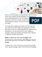 How to Cut Out Images on Photoshop