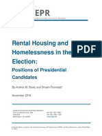 Rental Housing and Homelessness in the 2020 Election