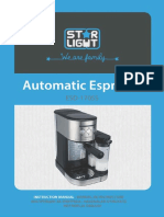 Manual de utilizare espressor Star Light ESD-170SS
