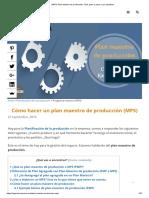 (MPS) Plan Maestro de Producción_ Fácil, Paso a Paso y Con Ejemplos
