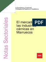 Nota Sectorial. El Mercado de Las Industrias Cárnicas en Marruecos