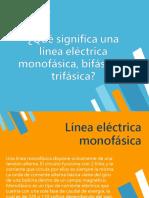 Qué Significa Una Línea Eléctrica Monofásica