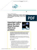 Important Notice About the GPS Week-Number Roll-Over Problem