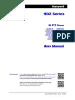 HDZ Series - IP PTZ Domes User Manual