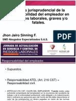 Análisis Jurisprudencial de La Responsabilidad Del Empleador en Accidentes Laborales Graves y Fatales. Definitiva.