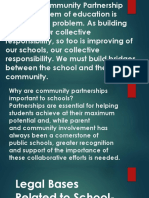 Legal Bases Related to School- Community Partnerships