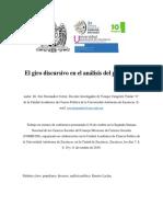 El Giro Discursivo en El Análisis Del Populismo