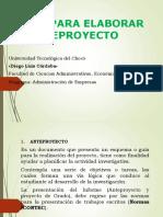 Guía Explicativa para Anteproyecto por - Jesús Antonio Cuesta Copete .pptx