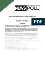 Fox News Poll, North Carolina, November 10-13, 2019