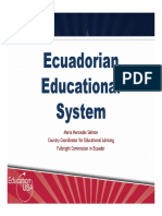 ECUADORIAN EDUCATION