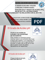 POTENCIA DE OXIDACIÓN (EH) Y GRADO DE ACIDEZ (PH), DIAGRAMA DE EH Y PH .ALTERACIONES HIDROTERMALES Y SU RELACIÓN CON EL EH Y PH.pptx