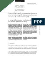 Nuevos Tiempos Para La Documentación Informativa en El Periodismo Digital