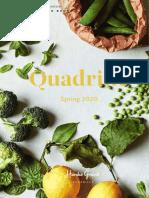 Spring 2020 Quadrille Catalog
