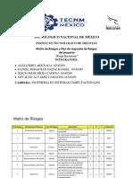 Matriz de Riesgos y Plan de Respuesta de Riesgos