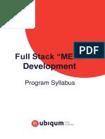 Full Stack Mern Development Syllabus