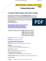 Technical info about die casting