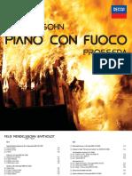 """CD Booklet """"Piano con Fuoco"""""""