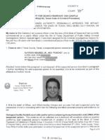 Search warrant affidavit for Rep. Poncho Nevarez