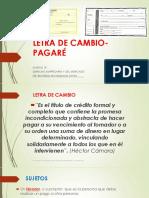 Letra de Cambio- Pagaré