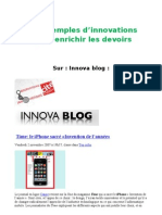 Des Exemples d'Innovation