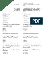 Evaluacion de Sistemas de Ecuaciones( Reducc y Cramer)