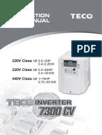 Teco Speecon 7300 Cv Series Manual Up to 55kw