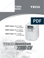 Teco Speecon 7300 Cv Series Manual Up to 55kw