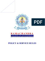 RCEE Service Policy & Rules