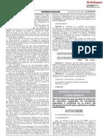 Decreto Supremo Que Aprueba La Reduccion de Derechos Registr Decreto Supremo n 021 2019 Vivienda 1792887 1
