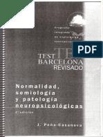 Test de Barcelona normalidad semiologia y patologia