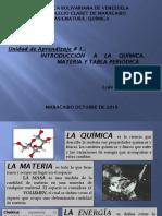 Unidad de Aprendizaje 1. Introduccion a la quìmica. Materia y Tabla periódica 2019-2020
