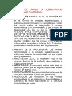 Documento de Derecho Procesal Administrativo