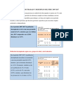 Indicadores de Trabajo y Desempleo Del Peru