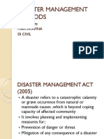 Disaster Management Methods