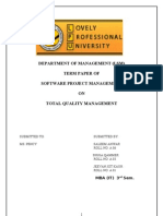 Total Quality Management FINAL