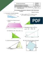 Taller IV Razones Trigonométricas Triángulos Rectángulos