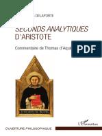 De AQUINO T. - Commentaire Des Second Analytiques d'Aristote