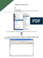 Modul 3 - Procesare de Text [Word]