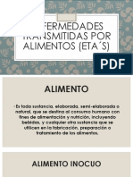 ENFERMEDADES TRANSMITIDAS POR ALIMENTOS (ETA´s) POWER POINT