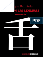 Bernardez Enrique - Qué Son Las Lenguas