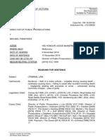 Sentencing Reasons Dpp v Panayides