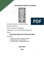 Trabajo Clasificación Título Valores - Comercial II
