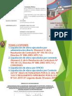 Exposicion de Liquidaccion de Obras Ejecutadas Por Contrato y Administracion Directa PDF