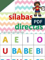 Las Silabas Directas en Tarjetas