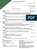 Sample US Resume 2