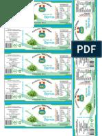 Etiqueta para frascos de productos Berros